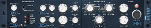 epicVerb digital reverberation simulator