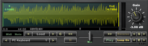An audio wave player